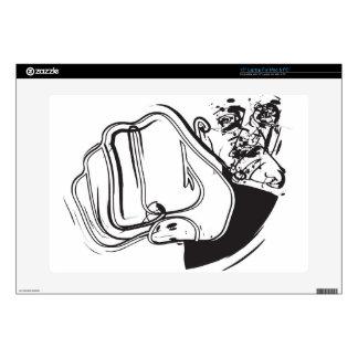 "Man fist hitting air 15"" laptop decal"