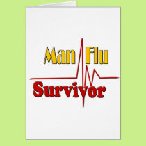 Man Flu Survivor Get Well Card