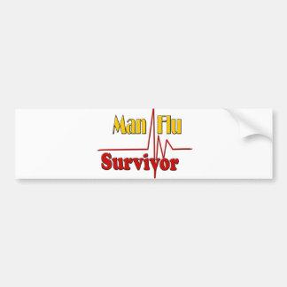 Man Flu Survivor Theme Bumper Sticker