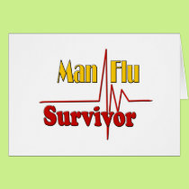 Man Flu Survivor Theme Card