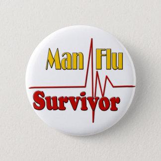 Man Flu Survivor Theme Pinback Button