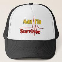 Man Flu Survivor Theme Trucker Hat