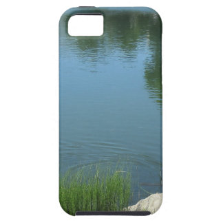 Man fly fishing on a mountain lake iPhone SE/5/5s case