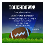 Man Football Custom  Birthday Invitation