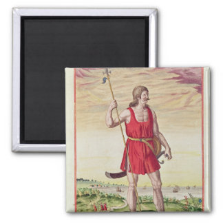 Man from a Neighbouring Tribe to the Picts 2 Inch Square Magnet