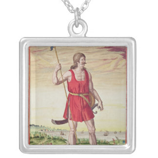 Man from a Neighbouring Tribe to the Picts Silver Plated Necklace