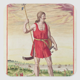 Man from a Neighbouring Tribe to the Picts Square Sticker