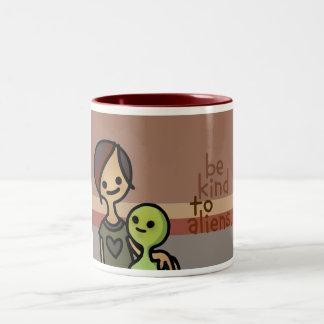 man from mars mug. Two-Tone coffee mug