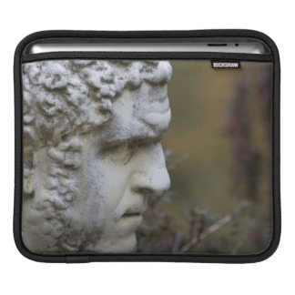 Man Garden Statue Photo iPad Sleeve