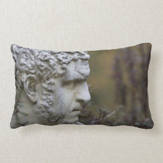 Man Garden Statue Photo Lumbar Pillow