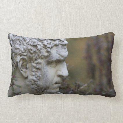 Man Garden Statue Photo Pillow