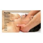 Man Getting Neck Massage Business Card Templates