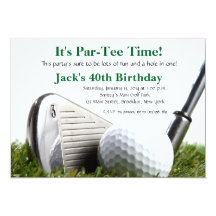 Golf birthday invitations announcements zazzle filmwisefo Choice Image