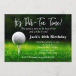 "Man Golf Birthday Invitation<br><div class=""desc"">Man Golf Birthday Invitation.</div>"