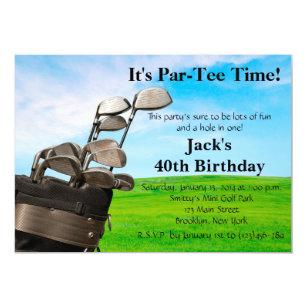 Mini golf birthday invitations announcements zazzle man golf birthday invitation filmwisefo Choice Image