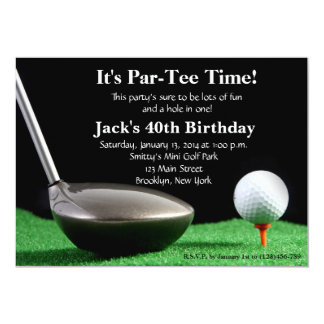 Man Golf Birthday Invitation