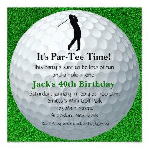Mini golf birthday invitations announcements zazzle man golf birthday invitation filmwisefo