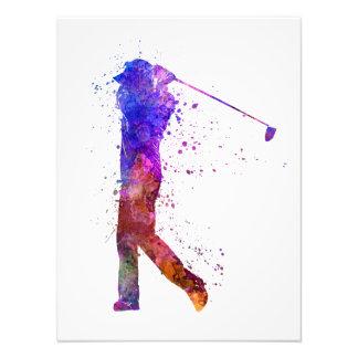 man golfer swing silhouette fotografía