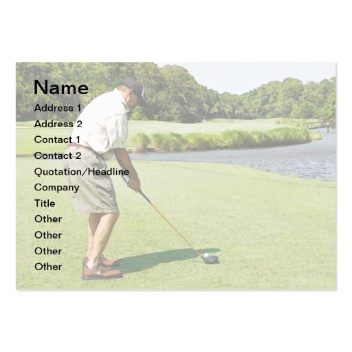 man golfing business cards
