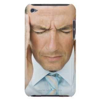Man hands on head barely there iPod cover