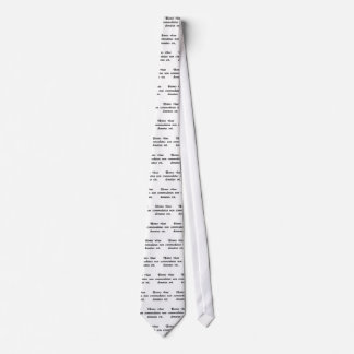 Man has been lent to life, not given. tie