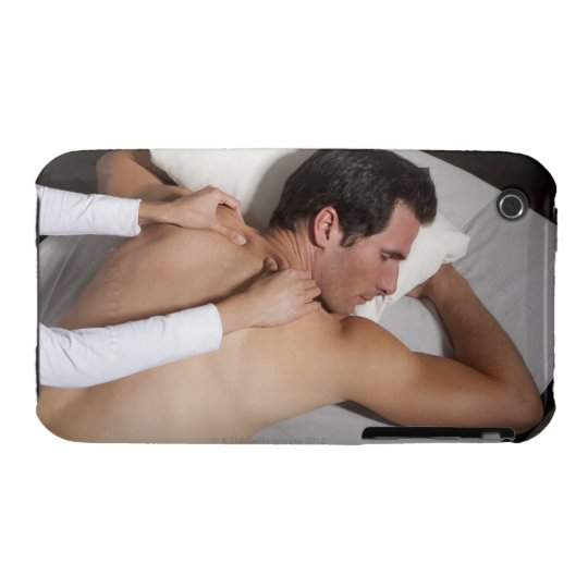 Man having a back massage from woman Case-Mate iPhone 3 case