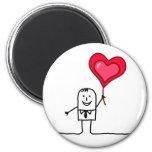 Man & Heart Refrigerator Magnet