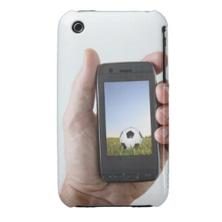 Man holding a mobile phone iPhone 3 cases