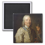 Man Holding a Staff, c.1800 (oil on canvas) Magnets