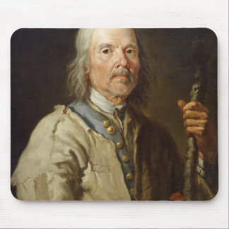 Man Holding a Staff, c.1800 (oil on canvas) Mouse Pad