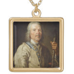 Man Holding a Staff, c.1800 (oil on canvas) Necklace