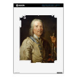 Man Holding a Staff, c.1800 (oil on canvas) iPad 3 Decal