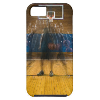 Man holding basketball standing on court, iPhone SE/5/5s case
