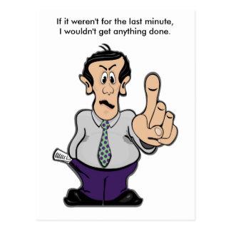 Man Holding Finger Up Postcard