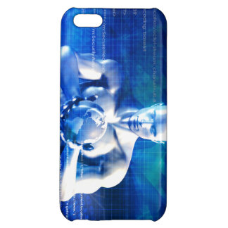 Man Holding Globe with Technology Industry iPhone 5C Case