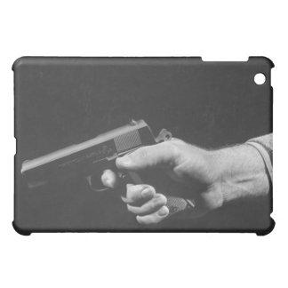 Man Holding Gun iPad Mini Cover