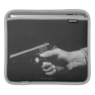 Man Holding Gun iPad Sleeve