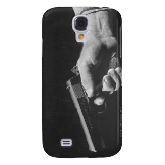 Man Holding Gun Samsung Galaxy S4 Cover