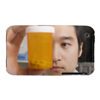 Man holding pill bottle Case-Mate iPhone 3 cases