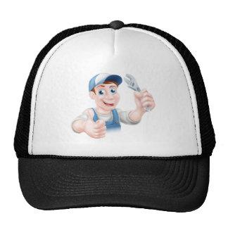 Man holding spanner trucker hat