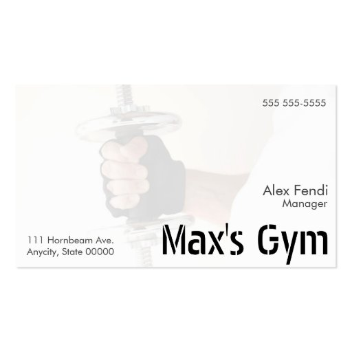 man holds weight fade business card zazzle