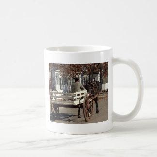 Man, Horse and Wagon Colonial Williamsburg Coffee Mug