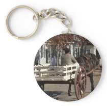 Man, Horse and Wagon Colonial Williamsburg Keychain