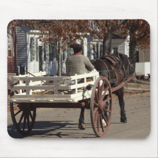 Man, Horse and Wagon Colonial Williamsburg Mouse Pad