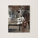 Man, Horse and Wagon Colonial Williamsburg Jigsaw Puzzle