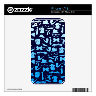 Man icons patterns only for manly men iPhone 4S skin