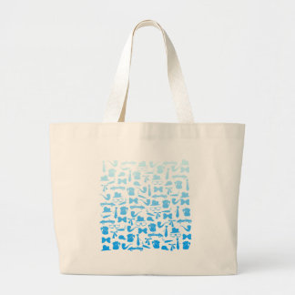 Man icons patterns only for manly men large tote bag