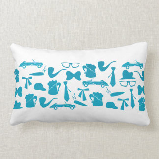 Man icons patterns only for manly men lumbar pillow