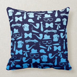 Man icons patterns only for manly men throw pillow