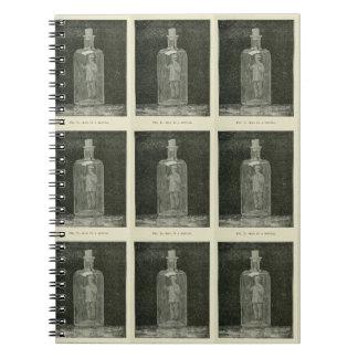 """Man in a Bottle"" Vintage Notebook"